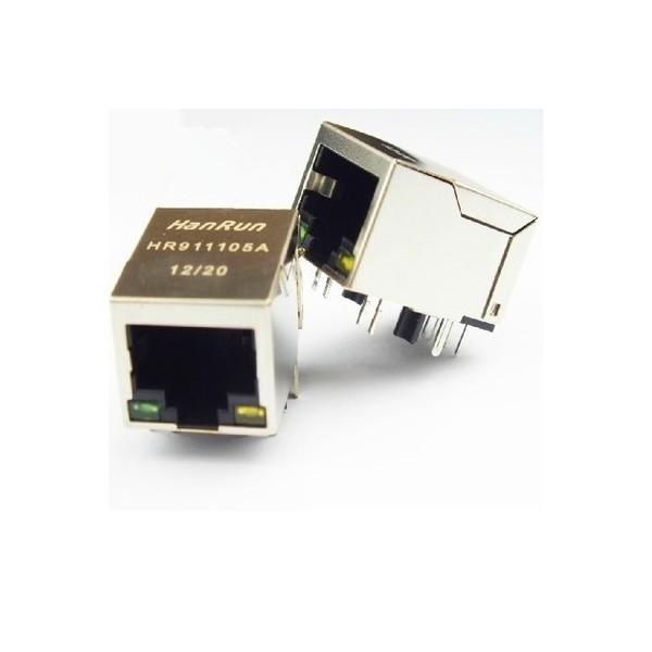 HR911105A-RJ45-کانکتور شبکه فیلتر دار اورجینال+فوت پرینت