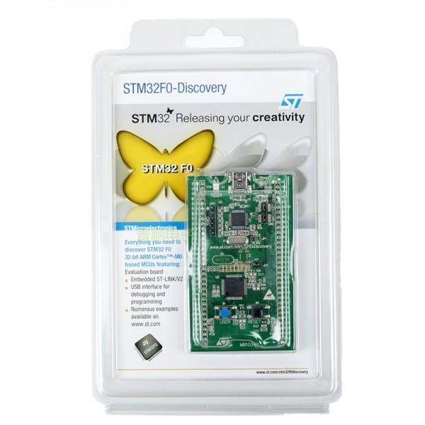 برد STM32F0DISCOVERY با پروگرامر و دیباگر روی برد STM32F051R8