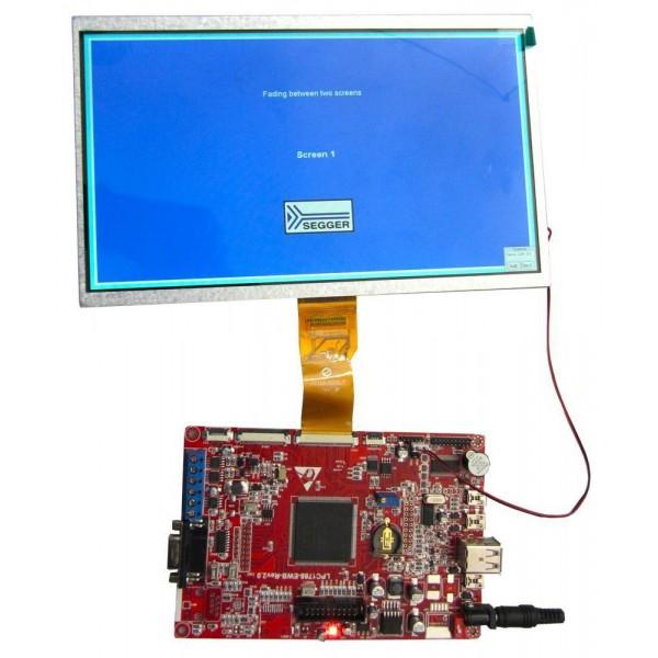 برد کاربردی و حرفه ای LPC1788 با ساپورت tft 3.6 تا 10.1 اینچ 40 پین و50 پین و LED10.1 اینچ/ و emwin پورت شده