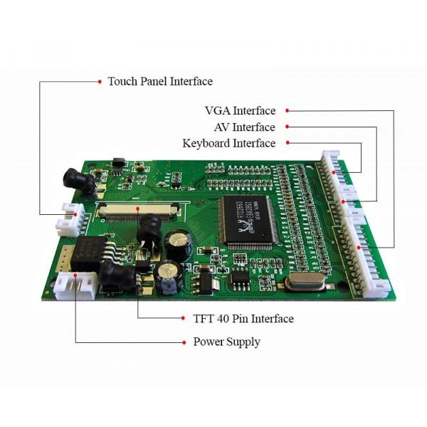 برد VGA/TV To LCD (ورودی VGA/TVخروجی LCD 5.0و LCD 4.3 LCD 7.0اینچ )-40پین
