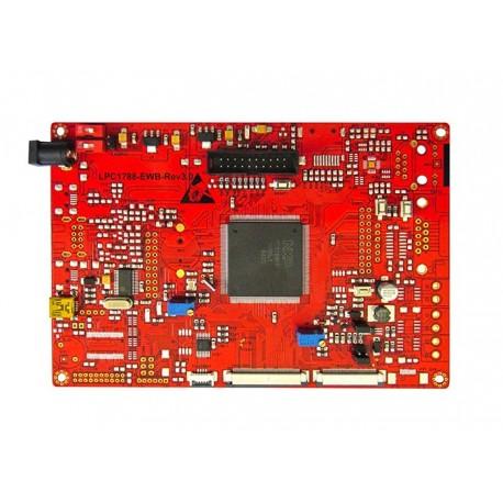هدر برد کاربردی و حرفه ای LPC1788 با ساپورت tft 3.6 تا9.0 اینچ 40 پین و50 پین / و emwin پورت شده