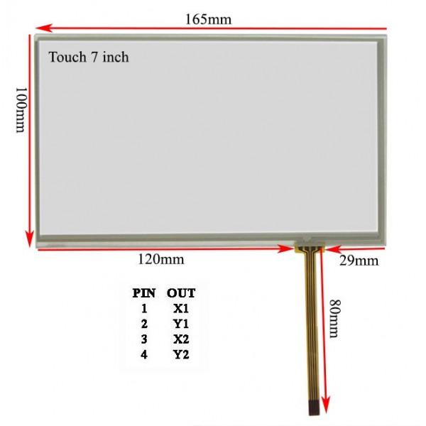 راست فلتTouch 7.0 inch تاچ اسکرین 7 اینچ (کیفیت خوب)
