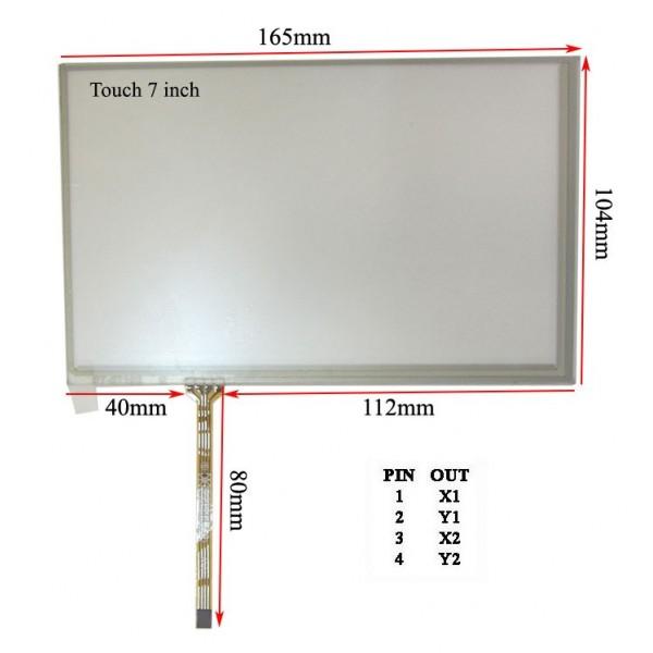 چپ فلتTouch 7.0 inch تاچ اسکرین 7 اینچ مخصوص INNOLUX AT070TN83 V.1 (کیفیت بسیار بالا)