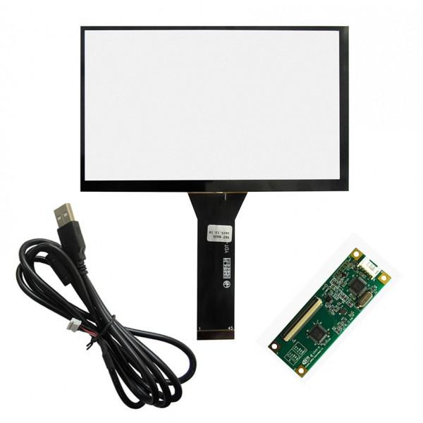 تاچ خازنی 7 اینچ کیفیت بالا استفاده در تمامی سیستم عامل ها// رزبری touch 7  نسبت 16 به 10 فقط مناسب led 1280x800