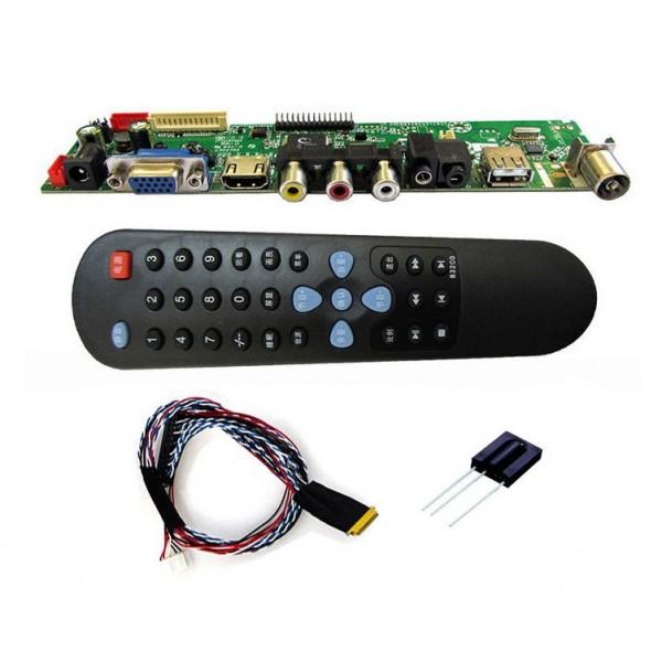برد بسیار کاربردی HDMI,VGA,AV 2 LCD با ریموت و.... برد تصویری