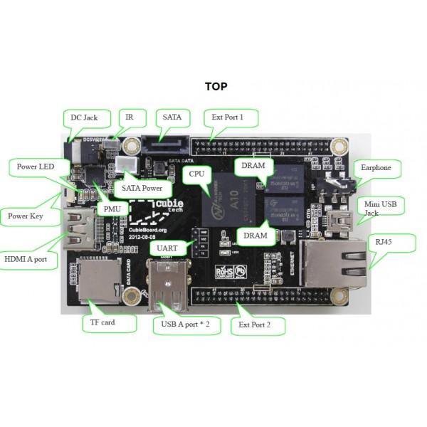 Cubieboard-cubie 1-1GHZ /4G nanad flash/1G DDR3 RAM/ARM cortex-A8-Android-Ubuntu-linux فروش ویژه(مرحله ششم) کابی برد کوبی برد