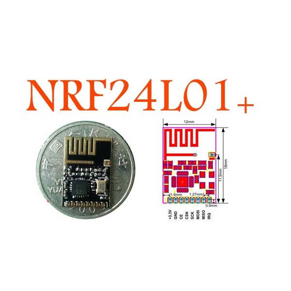 Wireless transceiver NRF24L01+ (upgrade version)/wireless data transfer modules/wireless data transmission/smd version