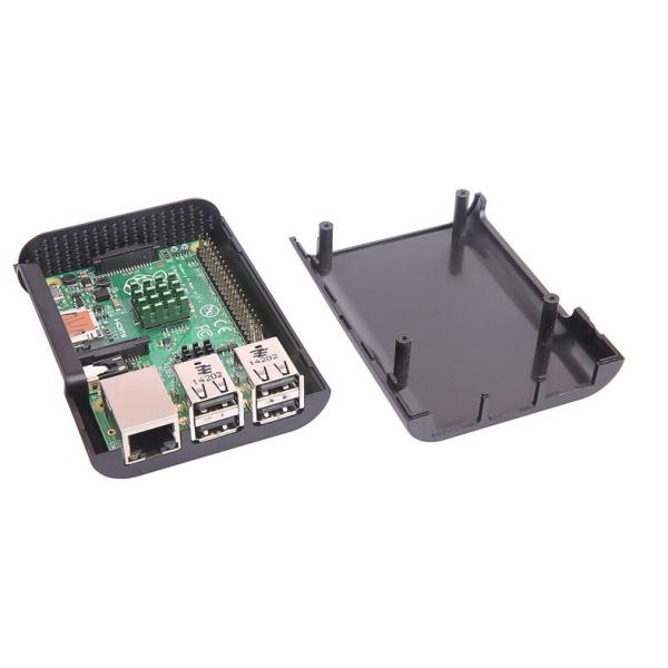 باکس مشکی  رزبری پای box raspberry pi 2 و بی پلاس کویرالکترونیک