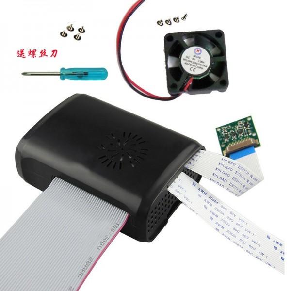 باکس مشکی  فن دار  رزبری پای box raspberry pi 2 و بی پلاس کویرالکترونیک