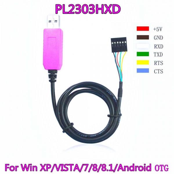 کابل سریال pl2303HXD قابلیت کار در ویندوز 8.1 و 10 و اندروید