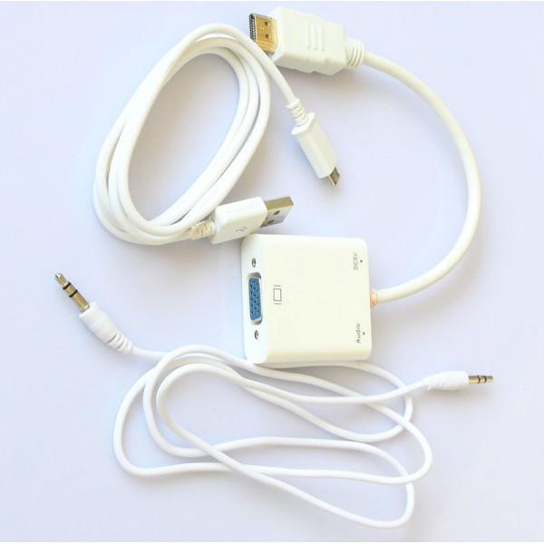 مبدل HDMI To VGA   hdmi2vgaبا صدا کیفیت خوب