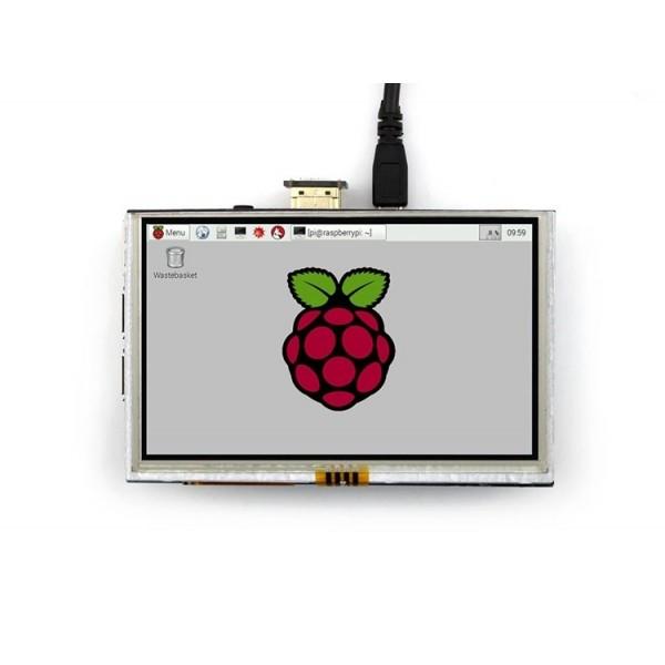 tft 5 inch raspberry pi نمایشگر تصویری 5.0 اینچ با تاچ اسکرین