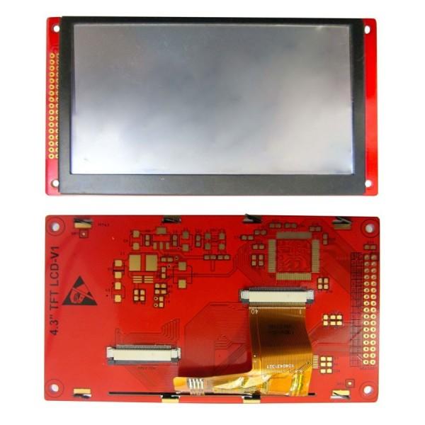 driver board درایور برد 4.3 اینچ با فریم +ورودی 40 پین استاندارد