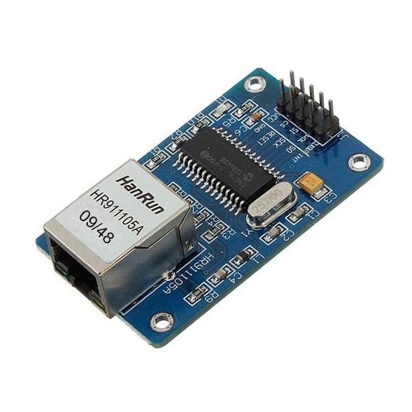 ماژول ENC28j60 -ethernet -با آیسی اورجینال- کویرالکترونیک