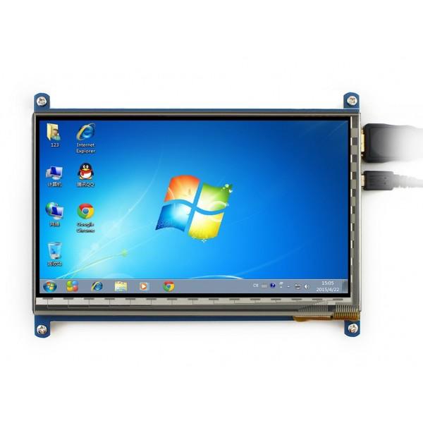 نمایشگر 7 اینچ رزبری و... با تاچ خازنی LCD 7 inch 800*480 + USB Capacitive touch