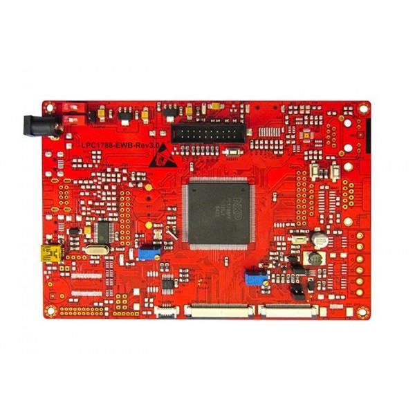 هدر برد کاربردی و حرفه ای LPC1788 با ساپورت tft 3.6 تا 9.0 اینچ 40 پین و50 پین / و emwin پورت شده