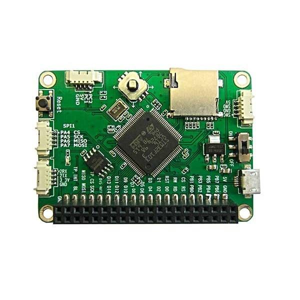 برد توسعه stm32f103vct6 ساپورت السیدی های 1.77 و 2.4 و 4.7 و 5 اینچ