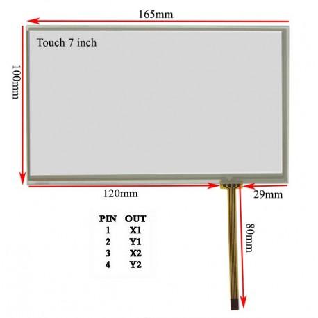 راست فلتTouch 7.0 inch تاچ اسکرین 7 اینچ (کیفیت خوب)- کویرالکترونیک