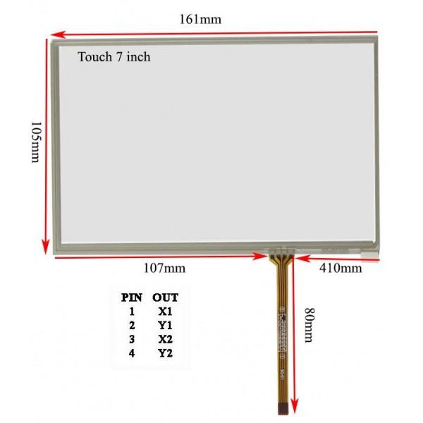 راست فلت Touch 7.0 inch تاچ اسکرین 7 اینچ (کیفیت خوب)-کویرالکترونیک