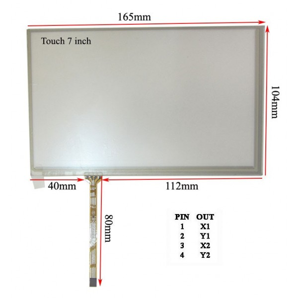 چپ فلتTouch 7 inch تاچ اسکرین 7 اینچ (کیفیت بسیار بالا)- کویرالکترونیک