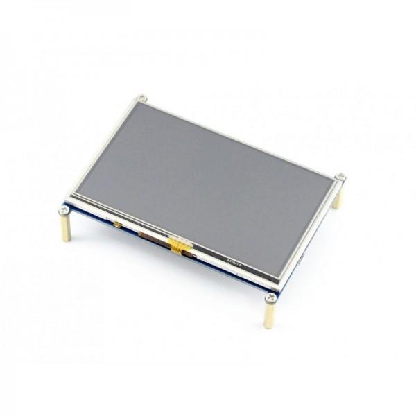 نمایشگر 5 اینچ با تاچ مقاومتی LCD 5 inch 800*480 + Resistive touch