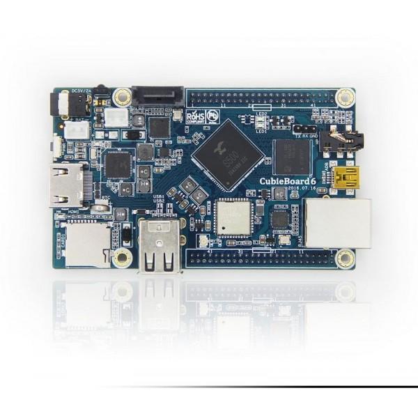 کوبی برد چهار هسته ای cubieboard 6 /کابی برد/2گیگ رم /8گیگ eMMC/لینوکس/آندروید