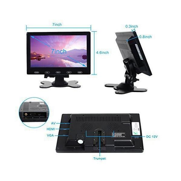 مانیتور  این7.0 اینچ با ورودی VAGA ,HDMI ,AV رزولوشن 480 *800کیفیت بالا