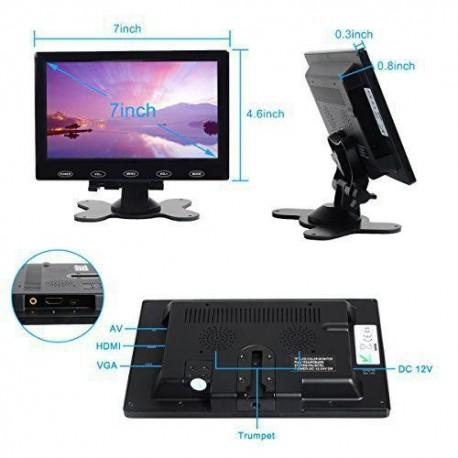 مانیتور این7.0 اینچ با ورودی VGA ,HDMI ,AV رزولوشن 600* 1024کیفیت بالا -کویرالکترونیک
