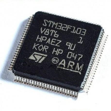 میکروکنترلرSTM32F103V8T6 /اورجینال- کویرالکترونیک