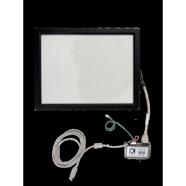 تاچ مقاومتی 5سیمه  15.0 اینچ صنعتی با فریم و برد رابط