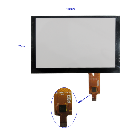 تاچ خازنی 5.0 اینچ مدل -ft5316 -کویرالکترونیک
