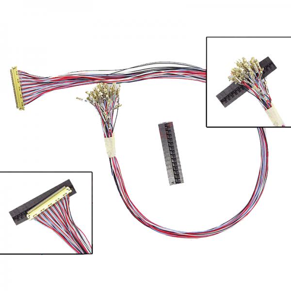 کابل lvds  40pin باز با قابلیت تغییر سیم بندی- کویرالکترونیک