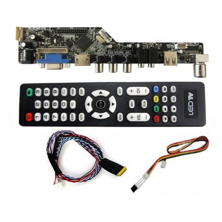درایور برد تصویری با ورودی VGA+HDMI+AV+USB و قابلیت تنظیم لوگو-کویرالکترونیک