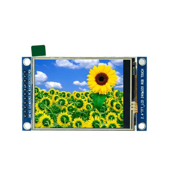 ماژول 2.4 اینچ با تاچ 2.4inch LCD display Module, 240x320 SPI- ILI9341 - کویرالکترونیک