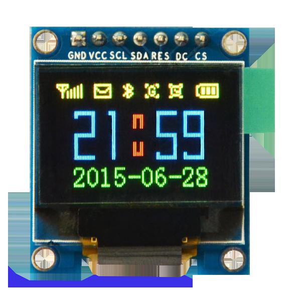 OLED HD 0.95 inch OLED Display Color Module 96x64 SPI / SSD1331 / 65536 colors -کویر الکترونیک