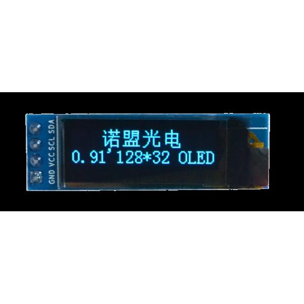 OLED 0.91 inch OLED Module Blue 128x32 IIC / SSD1306 -کویر الکترونیک