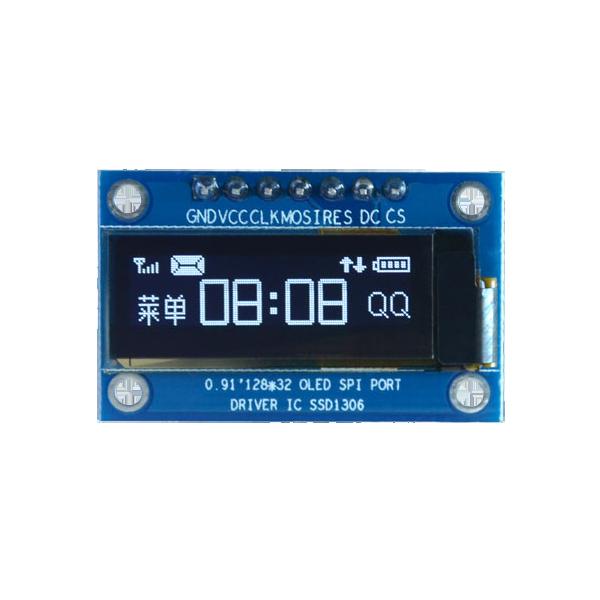 OLED 0.91 inch OLED Module White 128x32 SPI / SSD1306 -کویر الکترونیک