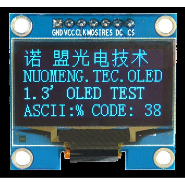 OLED 1.3 inch OLED Module Blue 128x64 IIC SPI / SSH1106 -کویر الکترونیک