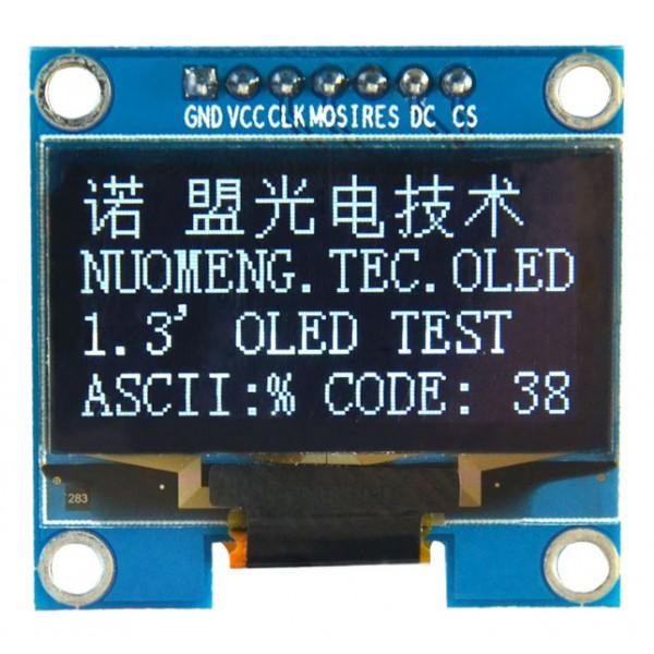 OLED 1.3 inch OLED Module White 128x64 IIC SPI / SSH1106 -کویر الکترونیک