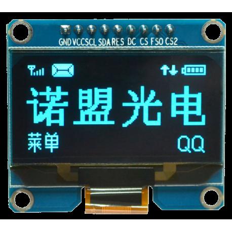 OLED 1.54 inch OLED Module Blue SPI / SSD1309 -کویر الکترونیک