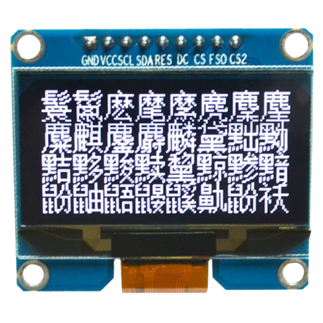 OLED 1.54 inch OLED Module White 128x64 SPI / SSD1309 -کویر الکترونیک