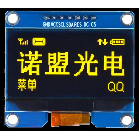 OLED 1.54 inch OLED Module Yellow 128x64 IIC SPI / SSD1309 -کویر الکترونیک