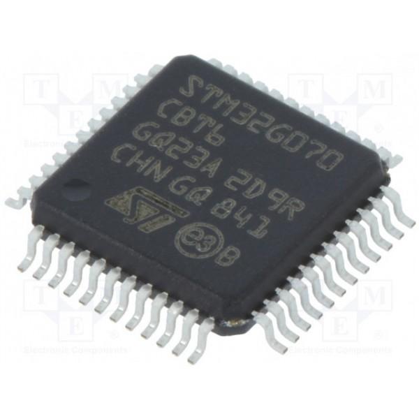 میکرو کنترلر STM32G070CBT6 - اورجینال - New and original+گارانتی کویرالکترونیک