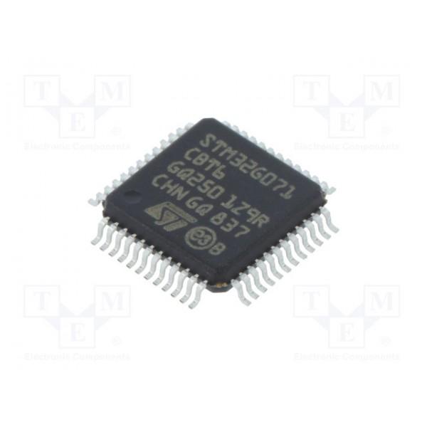 میکرو کنترلر STM32G071CBT6 - اورجینال - New and original+گارانتی کویرالکترونیک