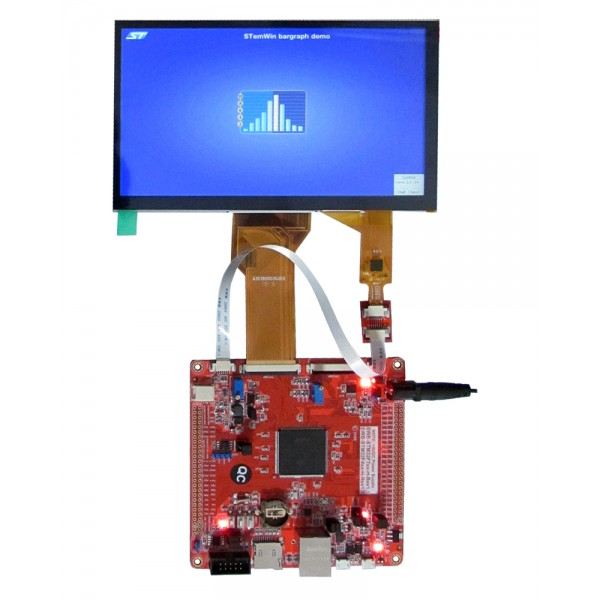 برد کاربردی و حرفه ای stm32f429igt6 ساپورت السیدی 3.6 تا 10.1 اینچ- EWB-STM32F429-H- REV1.1