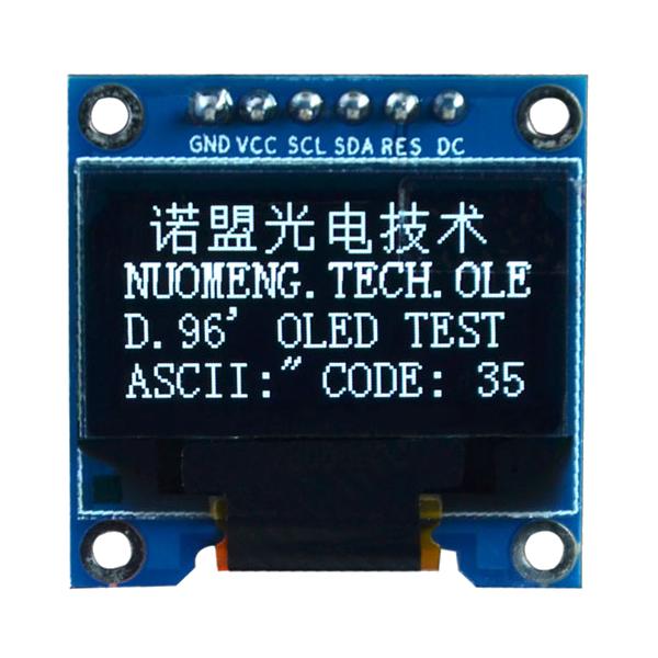OLED 0.96 inch OLED display module 128x64 SSD1306 IIC SPI / White -کویرالکترونیک