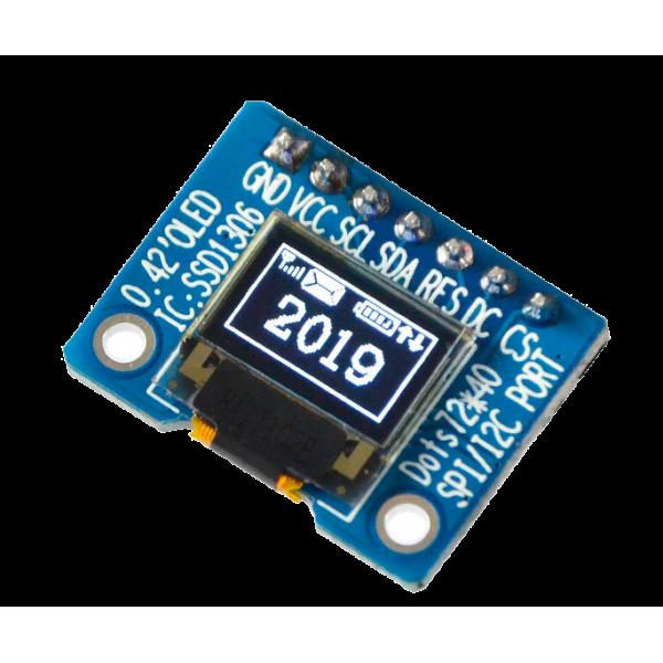 OLED 0.42 inch OLED Module White 70x40 IIC SPI / SSD1306 - کویر الکترونیک