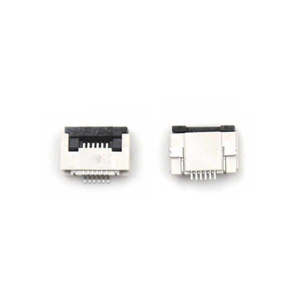 کانکتور اهرمی FPC 6 PIN 0.5mm Bottom Connector