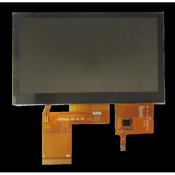 السیدی 4.3 اینچ با تاچ خازنی رزولیشن 272*480 - tft 4.3 with capacitive touch - کویر الکترونیک