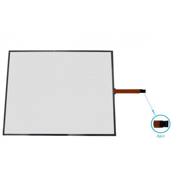 تاچ مقاومتی 17.0 اینچ 4 پین - touch screen 17.0 inch-تاچ مقامتی 17 اینچ-کویرالکترونیک-